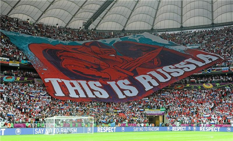 Banner, This is Russia, June 12, 2012, Poland vs. Russia