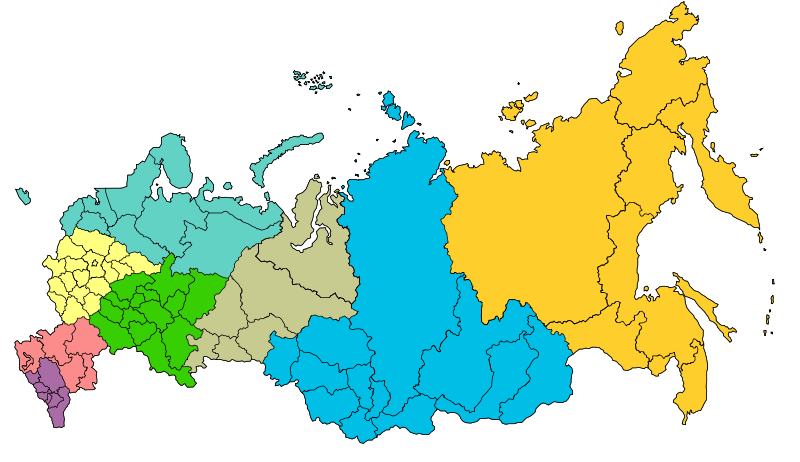 Russian Federation, Federal Districts created on May 13, 2000