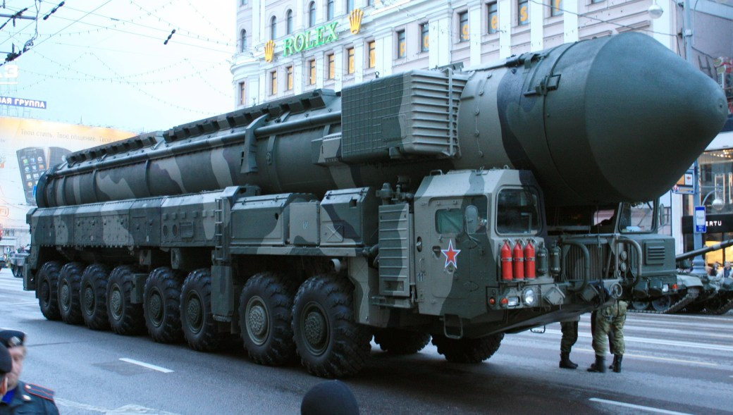 Russian missile truck