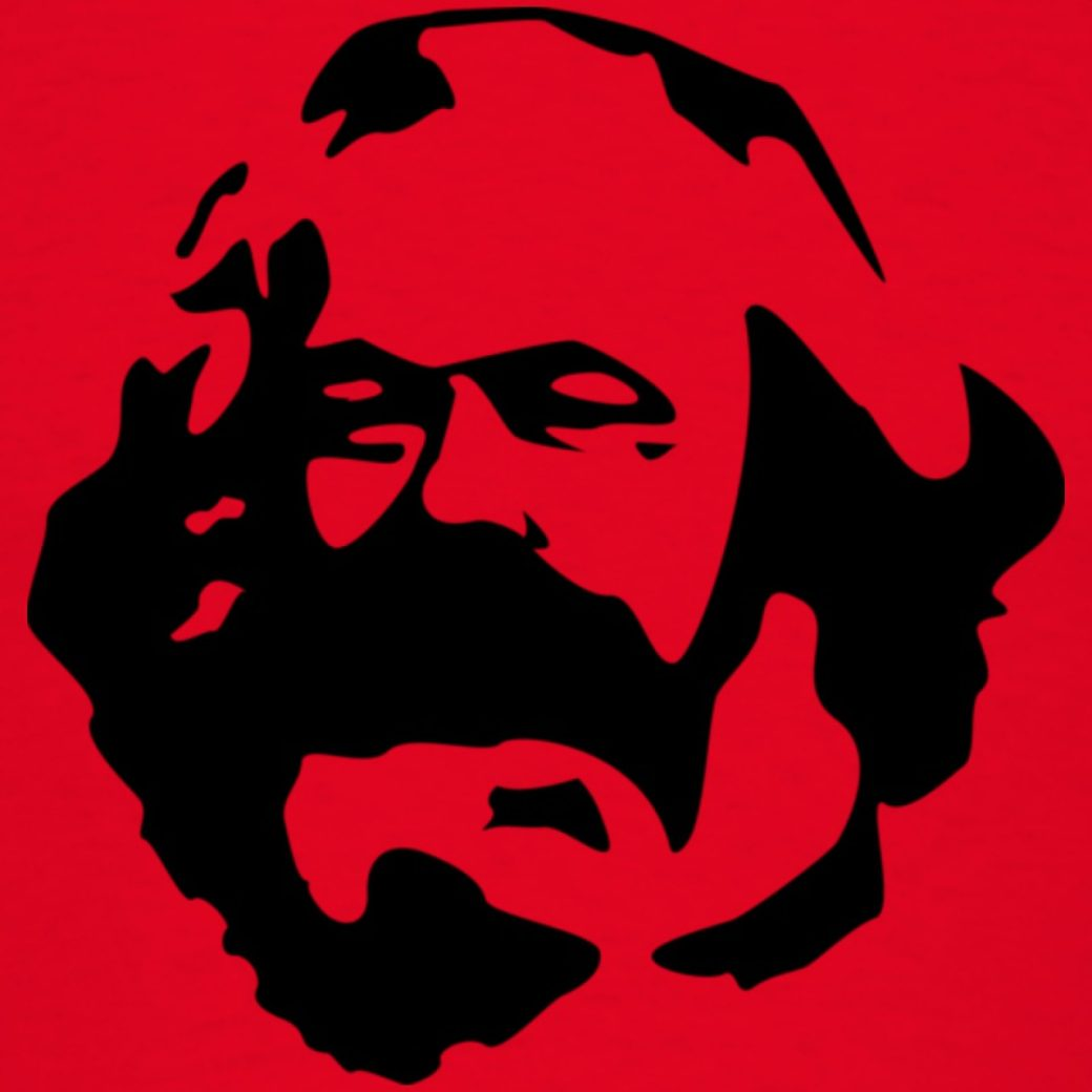 Karl Marx in red