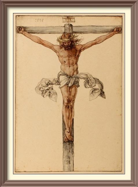 Dürer, Kruzifix, mit Rahmen